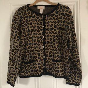 Vintage leopard print cardigan